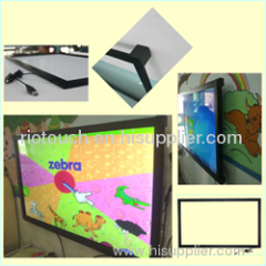 Different sizes infrared multi touch screen overlay kit for LCD or LED