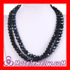 European Fashion Black Unisex Long Glass Bead Kenneth Jay lane Jewelry Necklace Sale