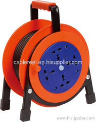 Plastic power cable reel with On/off switch