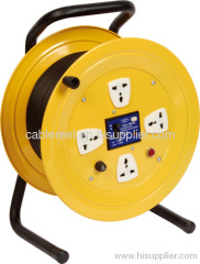 Fused Steel cable reel with indicator light