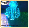 fibre optics chandelier lighting and crystal fitting for exhibition decoration