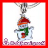 Wholesale Fashion Enamel Jewelry Pendant Christmas Snowman Charms european