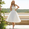 Short Tulle Voyage Wedding Gown With Bolero