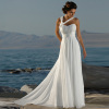 Sweetheart Chiffon Beach Wedding dresses With Flower