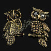 rhinestone owl brooch wholesale from China beads factory