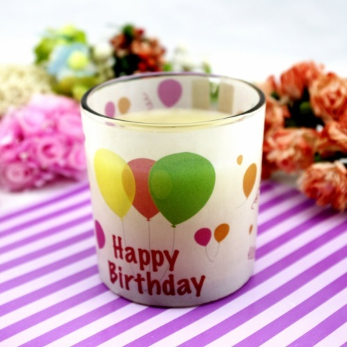 Glass Birthday Party Candle Holder (OEM)