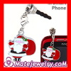Fashion Enamel Christmas Santa Claus Anti Dust Earphone Jack Plug Charm