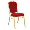 mordern red metal dining room chair
