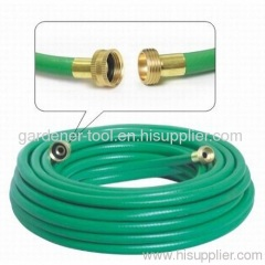 PVC Garden Water Hose With Female And Male Brass Fitting