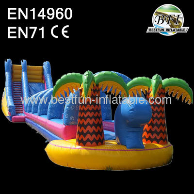 Jungle huge blow up slip and slide
