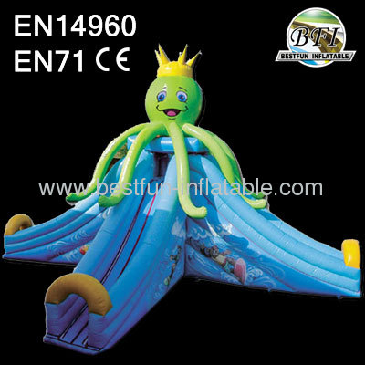Pvc Tarpaulin Octopus Inflatable Slide
