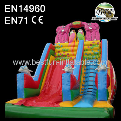 Outdoor inflatable slide for kids