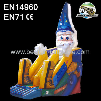 Kids backyard wizard inflatable slide
