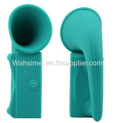 2012 new arrival horn silicone speakers for iphone