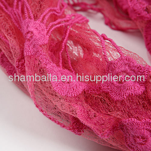Fashion Lace Pashmina ladies Shawl and Scarves Knitted Scarf for women