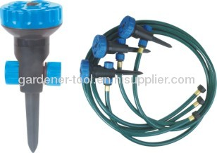 5-dial function sprinkler system with 5.4M 3-layer PVC Garden Water Hose