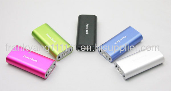 4500mAH Aluminum Case External Battery, Portable Power Bank Charger for Mobile Phones