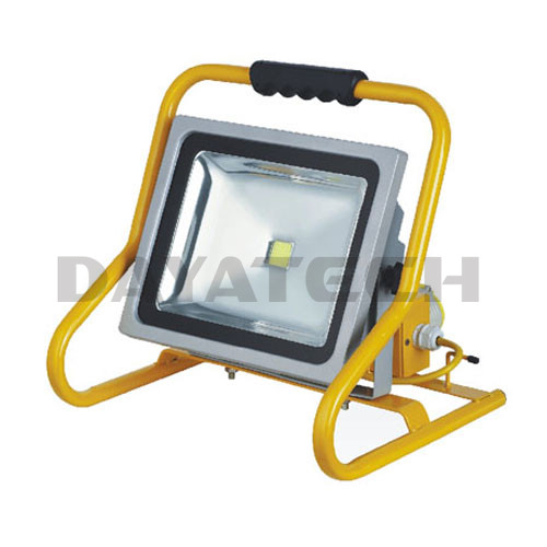 Portable 50W LED floodlight with duty stand & 2 water-proofBS sockets
