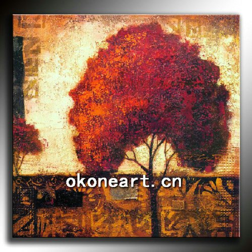 Abstract oil painting on canvas for decor
