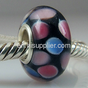 925 Silver Core MURANO GLASS BEAD fit european Charm Bracelet