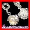 2013 european Real 925 Sterling Silver Shell Pearl Charm For Sale