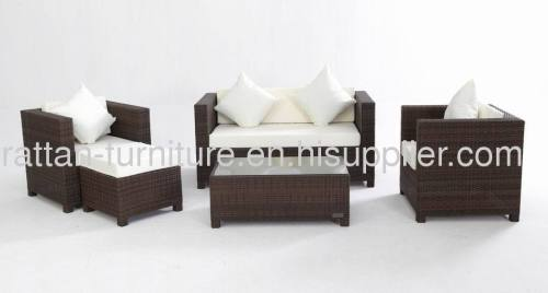 Outdoor furniture wicker two seater chair garden sofa set