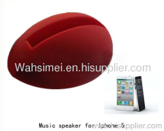 Music Egg Shaped Stander audio dock Loud speaker Amplifier for iPhone