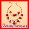 Vintage Style Rhinestone Crystal J Crew Resin Necklace Bracelet Set