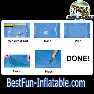 A hole in your Inflatable water slide? Patch it!
