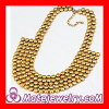 Fashion Gold Plated Chunky Statement Seed Bead Bib Necklace Wholesale