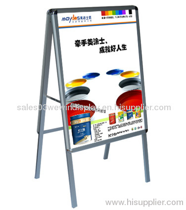 advertising aluminum poster frame stand