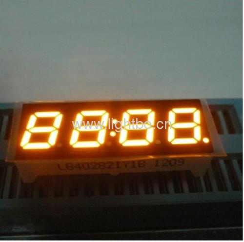 Super Bright Amber 4 digit 0.28 inch 7 segment led clock display