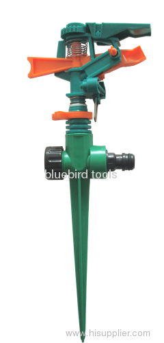 Plastic Impulse Sprinkler With Plastic Spike