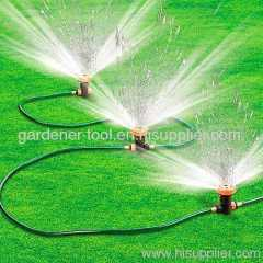 Plastic 5-way garden water sprinkler system