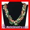 Wholesale Women's Seed Bead Braided Chain Chunky Rope Necklace