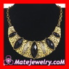 Wholesale Vintage Jewelry Chunky Crescent Bib Choker Necklace Pendant