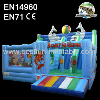 Inflatable Sea World Slide Game