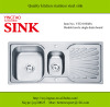 Double bowl with drain board kitchen stainless steel sink YTD10548A