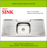 Single bowl double drain stainless steel sink