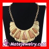Gold Filled Jewelry,Artificial Stone Scalloped Choker Collar Necklace