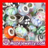 Mix 50 Pcs Big Hole Lampwork Glass Charm european Mixed Lots Beads