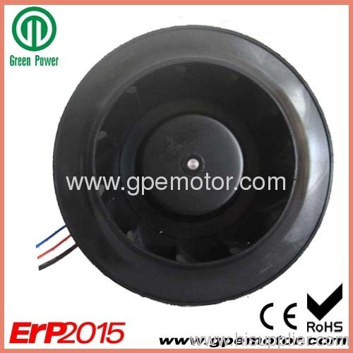 Energy Recovery Ventilation EC Centrifugal Fans Impeller with Brushless EC Motor and high pressure