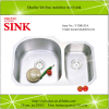 uCPC undermount kitchen stainless steel sink double bowls