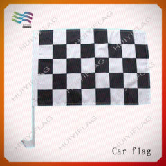 advertising car window flags with pole