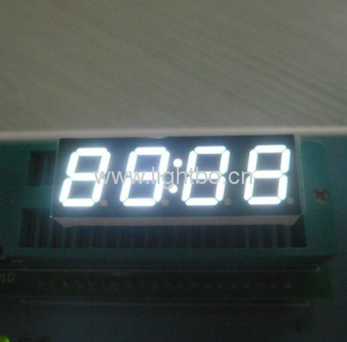 "Four digit 0.39"" common anode Ultra Bright white 7 segment led clock display for STB"