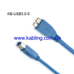 USB Cable 3.0 Micro A Male to B Male
