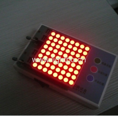 "2.0"" Ultra Bright Red 5mm 8 x 8 dot matrix led display for moving signs,traffic message boards,quene systems"