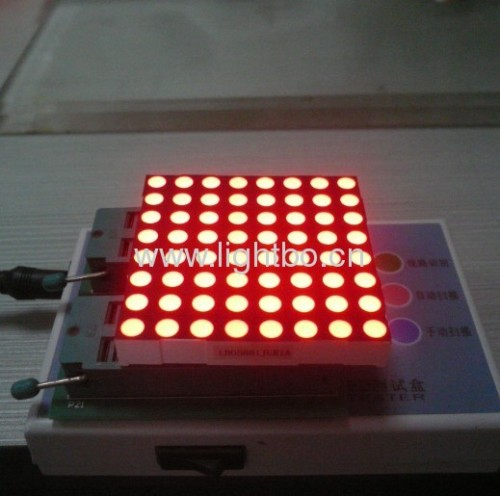 "Ultra Red 2.4"" 5 mm 8 x 8 led dot matrix display 60.96 x 60.96 x 9.2mm"