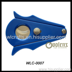 2013 hot sell promotional gift full stainless steel cigar cutter with gold-plating