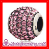 Wholesale Rondelle european Sterling Silver Crystal Beads Ball